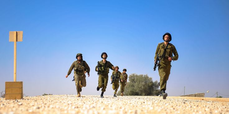 running soldiers idf